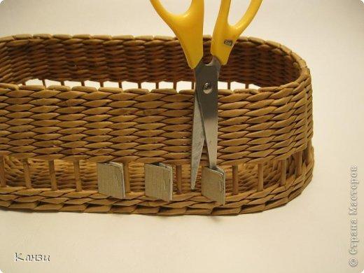 Поделка, изделие Плетение: МК корзинки с крышкой Бумага газетная. Фото 11