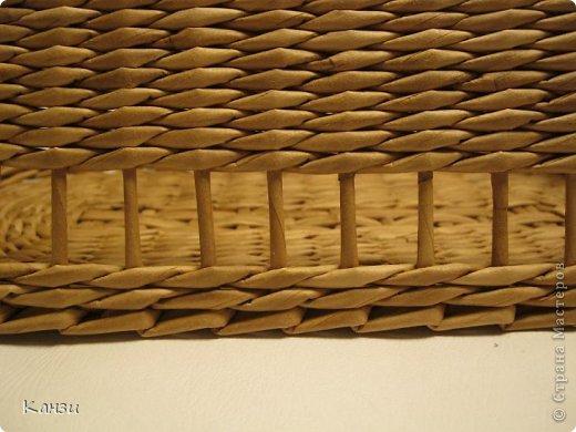 Поделка, изделие Плетение: МК корзинки с крышкой Бумага газетная. Фото 12