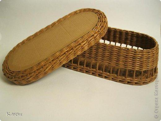 Поделка, изделие Плетение: МК корзинки с крышкой Бумага газетная. Фото 20