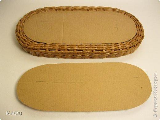 Поделка, изделие Плетение: МК корзинки с крышкой Бумага газетная. Фото 22