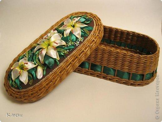 Поделка, изделие Плетение: МК корзинки с крышкой Бумага газетная. Фото 1