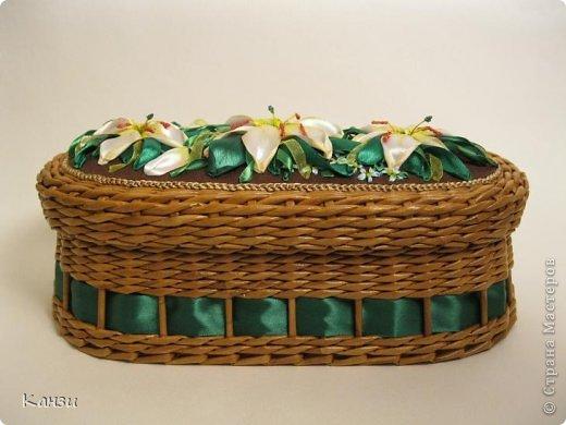 Поделка, изделие Плетение: МК корзинки с крышкой Бумага газетная. Фото 28