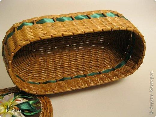 Поделка, изделие Плетение: МК корзинки с крышкой Бумага газетная. Фото 31