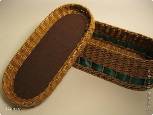 Поделка, изделие Плетение: МК корзинки с крышкой Бумага газетная. Фото 32