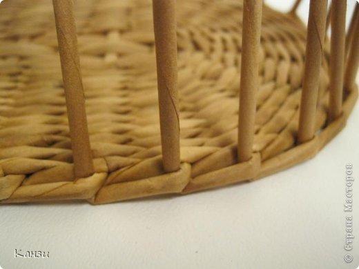 Поделка, изделие Плетение: МК корзинки с крышкой Бумага газетная. Фото 7