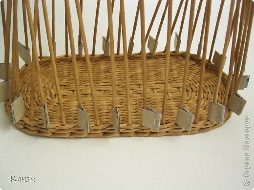 Поделка, изделие Плетение: МК корзинки с крышкой Бумага газетная. Фото 9