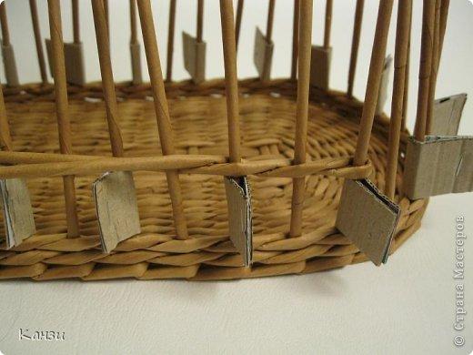 Поделка, изделие Плетение: МК корзинки с крышкой Бумага газетная. Фото 10