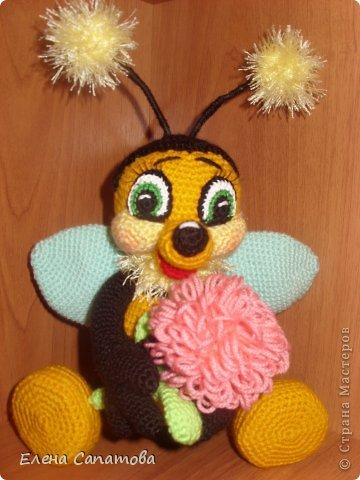 Мастер-класс Вязание крючком: Пчёлка Нитки 8 марта. Фото 1
