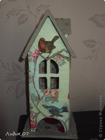 Мастер-класс Декупаж: Чайный домик!!!! Картон, Салфетки Отдых. Фото 17