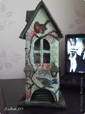Мастер-класс Декупаж: Чайный домик!!!! Картон, Салфетки Отдых. Фото 21