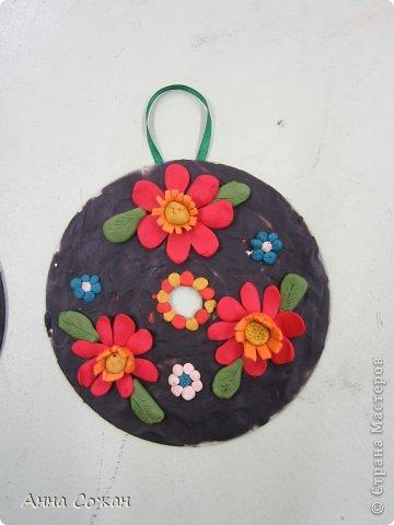 Интерьер Аппликация из пластилина (+ обратная), Лепка: К 8 марта пластилиновые подарки от детей! Пластилин 8 марта. Фото 3