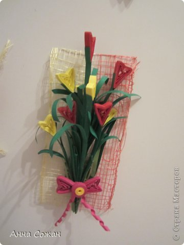 Интерьер Бумагопластика, Квиллинг: С 8 марта. Магнитики,шоколадницы и поздравления! Бумага 8 марта. Фото 13
