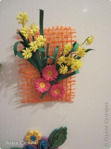 Интерьер Бумагопластика, Квиллинг: С 8 марта. Магнитики,шоколадницы и поздравления! Бумага 8 марта. Фото 11