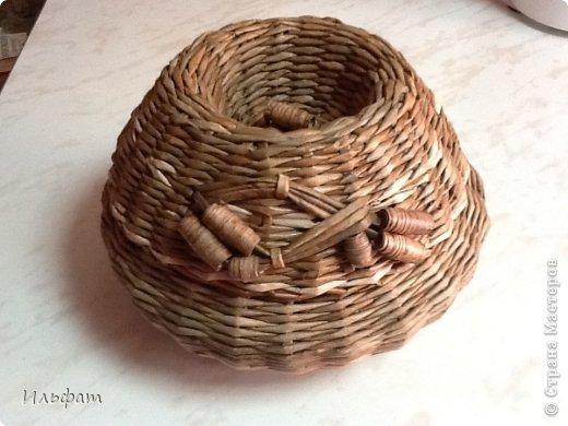 Поделка, изделие Плетение: Моё плетение Бумага газетная Дебют. Фото 7