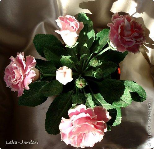 Мастер-класс Лепка: МК по лепке цветка глоксинии Часть вторая Фарфор холодный. Фото 21