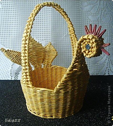 Мастер-класс, Поделка, изделие Плетение: МК курочки Трубочки бумажные. Фото 1