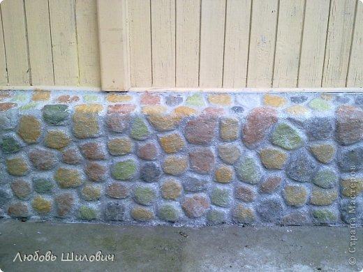 Мастер-класс Лепка Имитация природного камня на фундаменте  фото 1