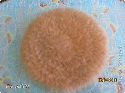 Мастер-класс Валяние (фильцевание): Валяная шляпка для куклы.  Шерсть. Фото 5