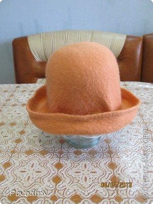 Мастер-класс Валяние (фильцевание): Валяная шляпка для куклы.  Шерсть. Фото 24