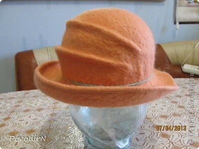 Мастер-класс Валяние (фильцевание): Валяная шляпка для куклы.  Шерсть. Фото 26