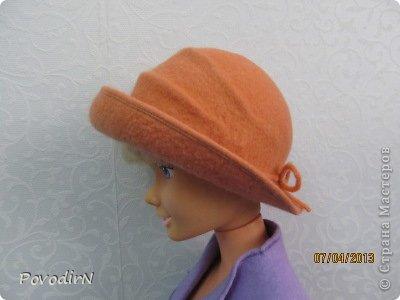 Мастер-класс Валяние (фильцевание): Валяная шляпка для куклы.  Шерсть. Фото 28