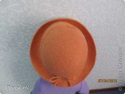 Мастер-класс Валяние (фильцевание): Валяная шляпка для куклы.  Шерсть. Фото 30