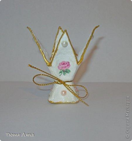 Мастер-класс, Поделка, изделие Бумагопластика: Подставка под пасхальные яйца Материал бросовый Пасха. Фото 1