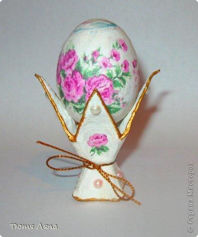 Мастер-класс, Поделка, изделие Бумагопластика: Подставка под пасхальные яйца Материал бросовый Пасха. Фото 12