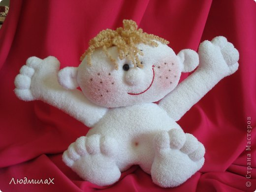 Игрушка Мастер-класс Шитьё Шьем игрушки из махрушки Маленький МК фото 15