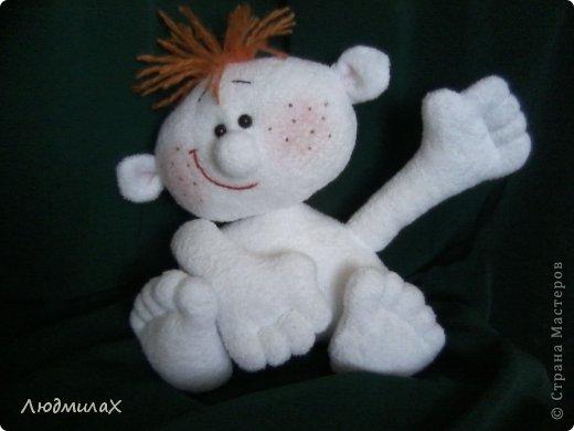 Игрушка Мастер-класс Шитьё Шьем игрушки из махрушки Маленький МК фото 22