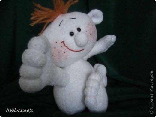 Игрушка Мастер-класс Шитьё Шьем игрушки из махрушки Маленький МК фото 21