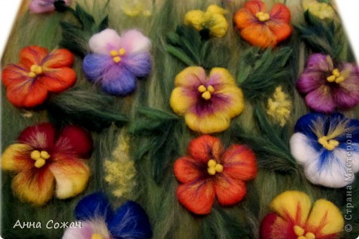 Картина, панно, рисунок Валяние (фильцевание), Рисование и живопись: Цветы полевые Шерсть. Фото 10
