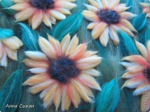 Картина, панно, рисунок Валяние (фильцевание), Рисование и живопись: Цветы полевые Шерсть. Фото 7