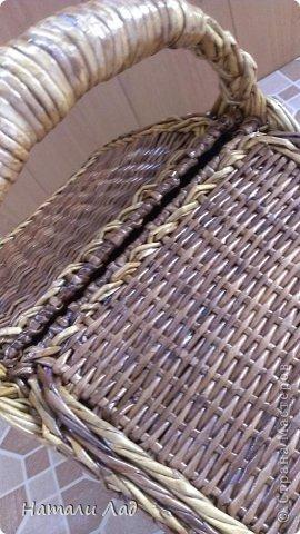 Поделка изделие Плетение Снова пикник Трубочки бумажные фото 8