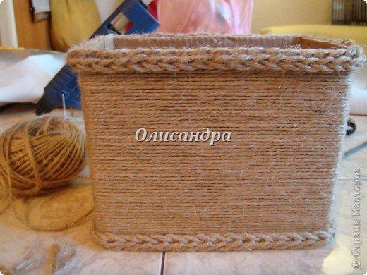 Вот такую коробочку для бумаг я сделала из ненужной коробки... Как это начиналось можно посмотреть здесь... http://stranamasterov.ru/node/141514. Фото 6
