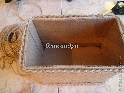 Вот такую коробочку для бумаг я сделала из ненужной коробки... Как это начиналось можно посмотреть здесь... http://stranamasterov.ru/node/141514. Фото 7