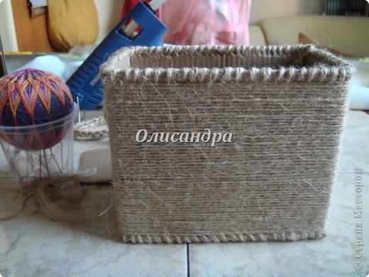 Вот такую коробочку для бумаг я сделала из ненужной коробки... Как это начиналось можно посмотреть здесь... http://stranamasterov.ru/node/141514. Фото 13