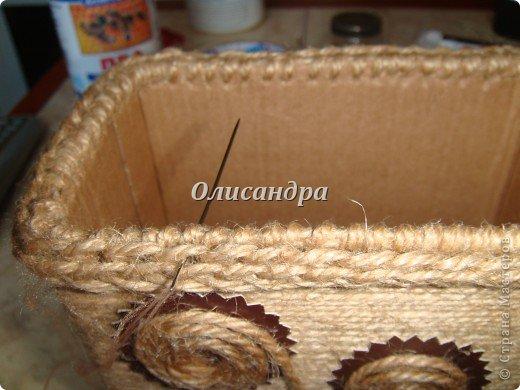 Вот такую коробочку для бумаг я сделала из ненужной коробки... Как это начиналось можно посмотреть здесь... http://stranamasterov.ru/node/141514. Фото 19