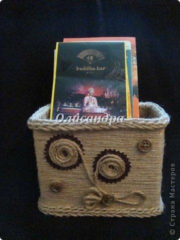 Вот такую коробочку для бумаг я сделала из ненужной коробки... Как это начиналось можно посмотреть здесь... http://stranamasterov.ru/node/141514. Фото 22