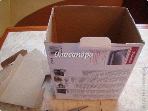 Была бы коробочка, а что в нее положить, всегда найдется... Одну уже сделала...   http://stranamasterov.ru/node/141514 ...и решила не останавливаться на достигнутом :)) Правда, шпагат закончился, но я вовремя нашла идею у Валентины из РОСТОВА ... Вместо шпагата можно использовать обычную пряжу... Ну, уж чего-чего, а пряжи у меня достаточно.... Фото 4