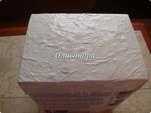 Была бы коробочка, а что в нее положить, всегда найдется... Одну уже сделала...   http://stranamasterov.ru/node/141514 ...и решила не останавливаться на достигнутом :)) Правда, шпагат закончился, но я вовремя нашла идею у Валентины из РОСТОВА ... Вместо шпагата можно использовать обычную пряжу... Ну, уж чего-чего, а пряжи у меня достаточно.... Фото 15