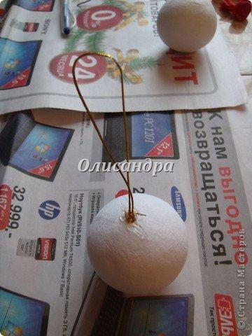 Сделала розовое дерево... http://stranamasterov.ru/node/144894 ...и так мне понравилось крутить розочки, что не могу остановиться... Это первый розовый шар..., по моей задумке их будет три...Результат покажу позже, т.к. последний шарик еще в проекте.... Фото 18