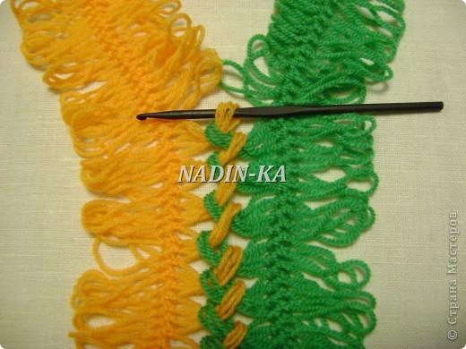 Гардероб, Мастер-класс Вязание, Вязание крючком: МК вязание на вилке. 1 Нитки, Пряжа. Фото 11
