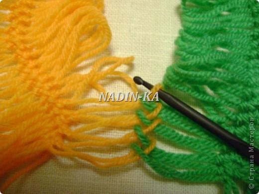 Гардероб, Мастер-класс Вязание, Вязание крючком: МК вязание на вилке. 1 Нитки, Пряжа. Фото 6