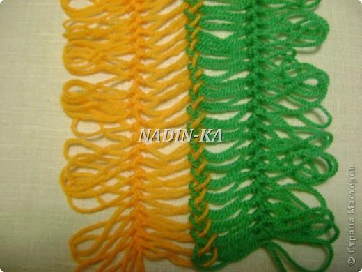Гардероб, Мастер-класс Вязание, Вязание крючком: МК вязание на вилке. 1 Нитки, Пряжа. Фото 7