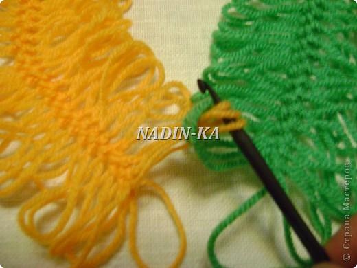 Гардероб, Мастер-класс Вязание, Вязание крючком: МК вязание на вилке. 1 Нитки, Пряжа. Фото 8