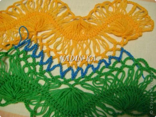 Гардероб, Мастер-класс Вязание, Вязание крючком: МК вязание на вилке. 1 Нитки, Пряжа. Фото 20
