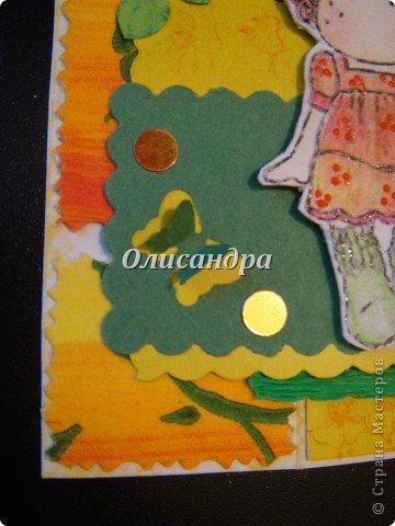 """Не отпускает меня """"Тильдомания""""... Но делать открытки-стойки уже надоело, хотя они мне очень нравятся... Рискнула сделать что-то другое... Понравилась такая форма...Похожа на гармошку... Впервые увидела ее в блоге у Голубки  http://stranamasterov.ru/node/159818?t=311   , но тогда я и представить себе не могла, что увлекусь открытками и скрапом... У Голубки есть ссылка на этот МК http://scrapmania.moy.su/forum/32-293-1 Я нашла еще один...   http://www.liveinternet.ru/users/4443300/post181848694 Если захотите сделать, выберите тот, что Вам больше подходит... Сделала уже не одну открытку, а мучаюсь каждый раз, будто делаю впервые... Страшно сказать...На одну открытку уходит 5-8 часов... Вот, такая я копуша... И как меня еще терпят дома!!! Не понимаю... Думаю, что необходимо сформировать в голове какие-то свои """"шаблоны"""" и тогда процесс пойдет быстрее, а для этого надо сделать еще очень много открыток, АТСок и т.д. и т.п... И все это ради одной """"великой"""" цели... СКРАП-АЛЬБОМА для фото.... Фото 12"""
