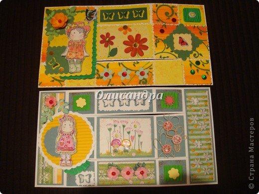 Очень нравится такая форма открытки...  Здесь можно посмотреть ,как это делается...   http://stranamasterov.ru/node/233169  , там ссылочки на МК ... А я решила, что больше делать такие не буду... Уже хочется чего-то новенького.... Фото 14