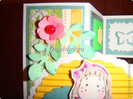 Очень нравится такая форма открытки...  Здесь можно посмотреть ,как это делается...   http://stranamasterov.ru/node/233169  , там ссылочки на МК ... А я решила, что больше делать такие не буду... Уже хочется чего-то новенького.... Фото 7